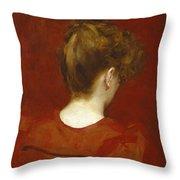Study Of Lilia Throw Pillow