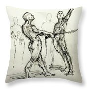 study of Spotters Throw Pillow