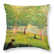 Study On La Grande Jatte Throw Pillow