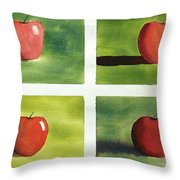 Study Red And Green Throw Pillow
