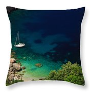 Stunning Beach Kefalonia Throw Pillow
