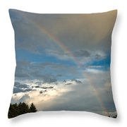 Stunning Rainbow Throw Pillow