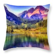 Stunning Reflections Throw Pillow