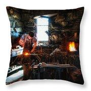 Sturbridge Village Blacksmith Throw Pillow