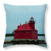 Sturgeon Bay Lighthouse Throw Pillow