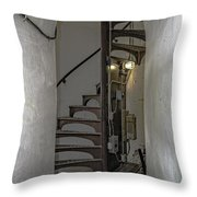 Sturgeon Point Lighthouse Spiral Staircase Throw Pillow