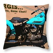 Sturgis Motorcycle Rally Throw Pillow