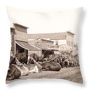 Sturgis South Dakota C. 1890 Throw Pillow