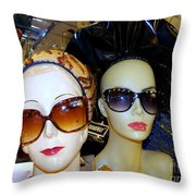 Stylin In Shades Throw Pillow