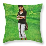 Stylish Miss Throw Pillow