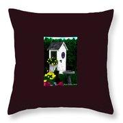 Stylish Outhouse Throw Pillow
