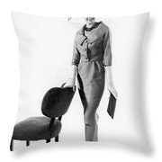 Stylish Woman Throw Pillow