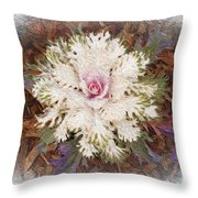 Stylized Cabbage Throw Pillow