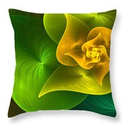 Stylized Philodendron Throw Pillow