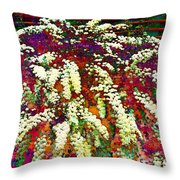 Stylized Spirea - Flowering Plant - Gardener Throw Pillow