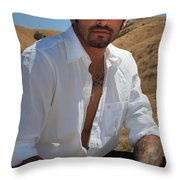 Suave Throw Pillow by Laurie Search