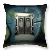 Sub-way Of Art IIi Throw Pillow
