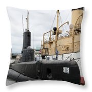 Submarine 319 On Delaware River  Throw Pillow