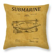 Submarine Patent 3 Throw Pillow