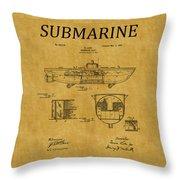 Submarine Patent 5 Throw Pillow