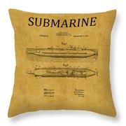 Submarine Patent 7 Throw Pillow