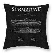 Submarine Patent 8 Throw Pillow