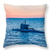 Submarine Sunset Throw Pillow