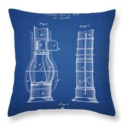 Submarine Telescope Patent From 1864 - Blueprint Throw Pillow
