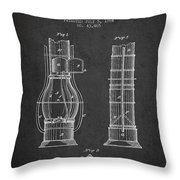 Submarine Telescope Patent From 1864 - Dark Throw Pillow