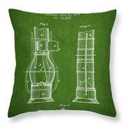 Submarine Telescope Patent From 1864 - Green Throw Pillow