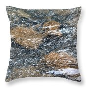Submerged Stone Abstract Throw Pillow