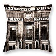 Suburban Station Throw Pillow