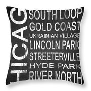 Subway Chicago 2 Throw Pillow