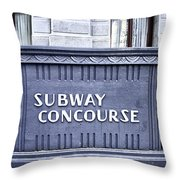 Subway Concourse At City Hall Throw Pillow