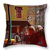 Subway - Late Afternoon Rush On A Cold Day Throw Pillow