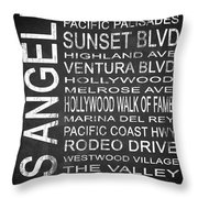 Subway Los Angeles 2 Throw Pillow