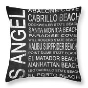 Subway Los Angeles 3 Throw Pillow