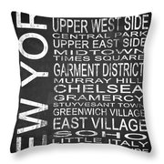 Subway New York 2 Throw Pillow