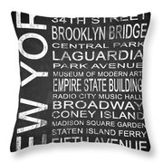 Subway New York 3 Throw Pillow