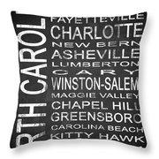 Subway North Carolina State 1 Throw Pillow