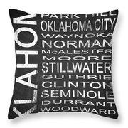 Subway Oklahoma State 1 Throw Pillow