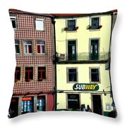 Subway - Porto Throw Pillow by Mary Machare