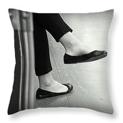 Subway Rest Throw Pillow