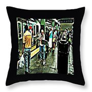 Subway Seranade Throw Pillow
