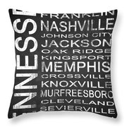 Subway Tennessee State 1 Throw Pillow