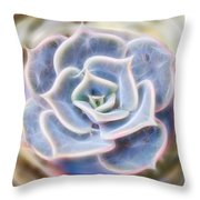 Succulent Glow Throw Pillow by Beth Sawickie