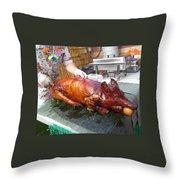Succulent Pig Throw Pillow