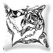 Succulent Stream Of Consciousness Throw Pillow by Beverley Harper Tinsley