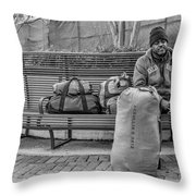 Such A Long Journey Bw Throw Pillow