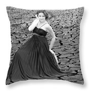 An Image Of Elegance Black And White Throw Pillow